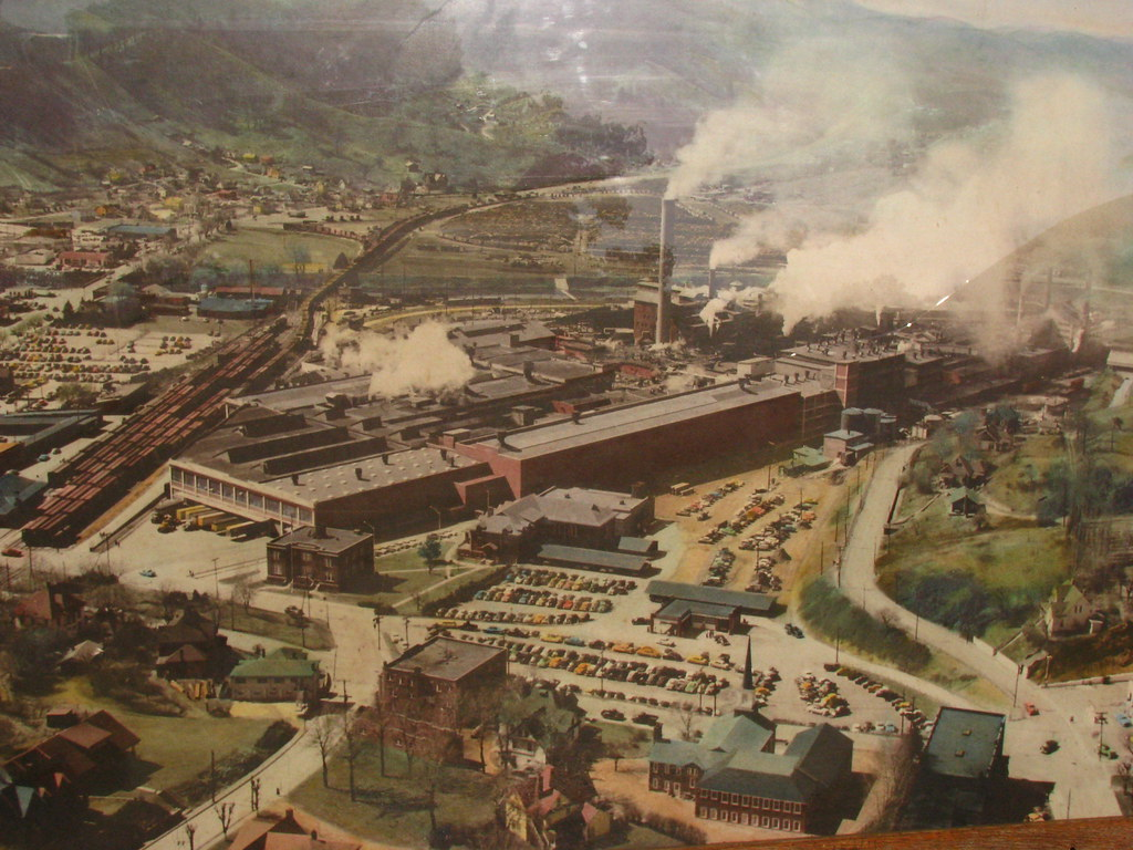 Aerial View Of Champion Paper Mill Circa 1950 Dimension