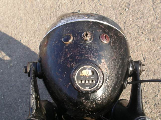 Bmw R12 1935 Headlight Small Walzentacho That Revolves