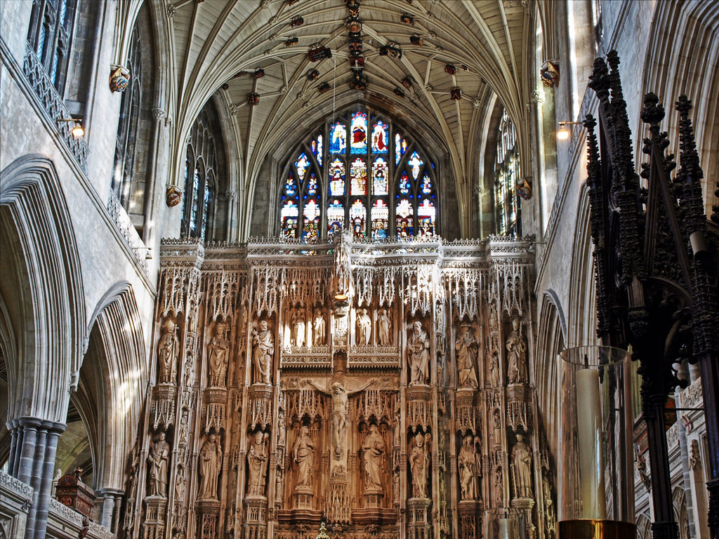 The Altar Screen Winchester Cathedral Part Of The