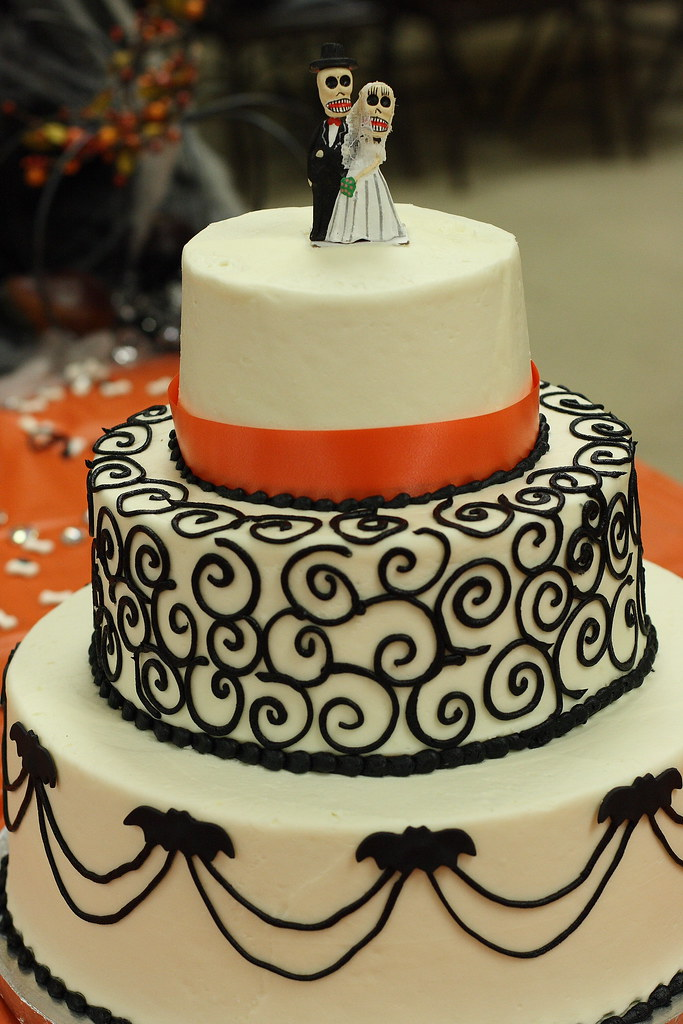 Halloween Wedding Cake Title Explains It All Flickr