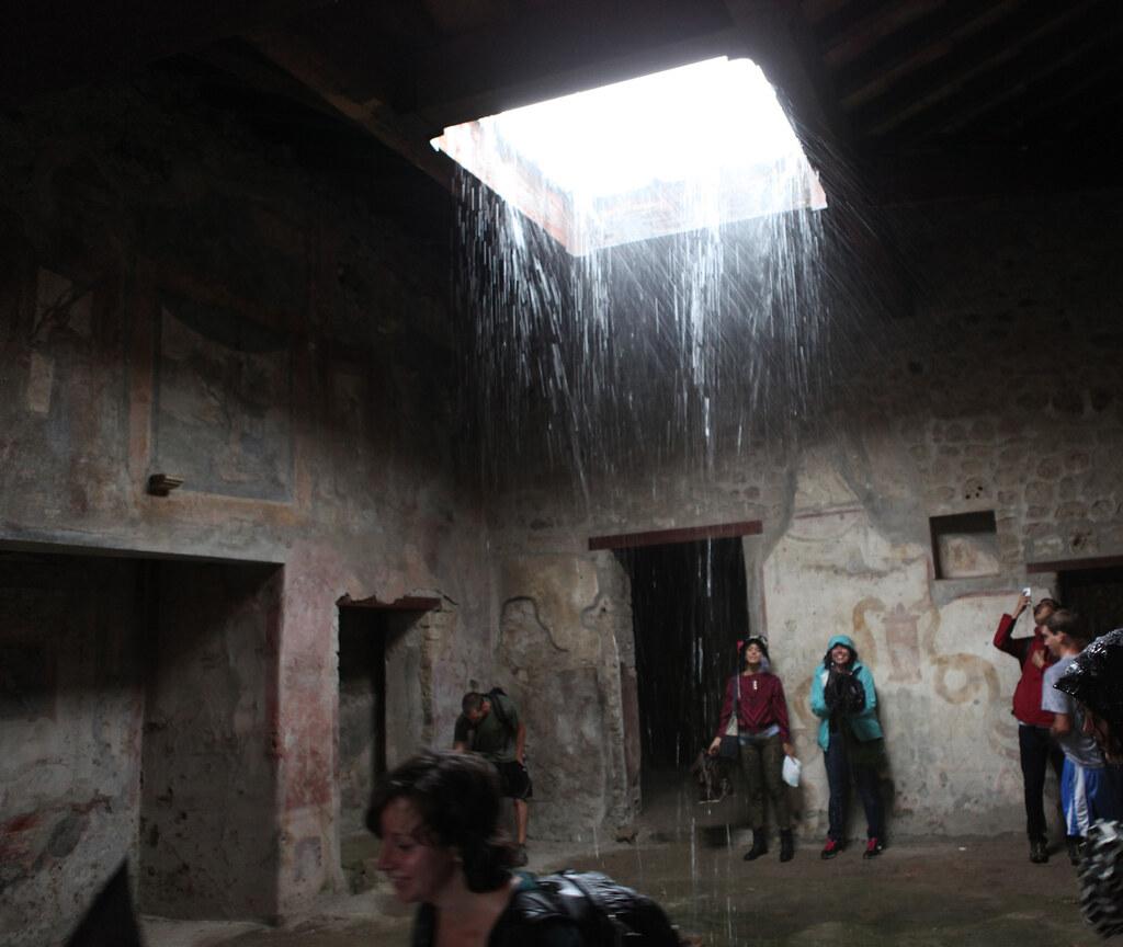 Pompeii Compluvium Casa Dell Ara Massima View Of The