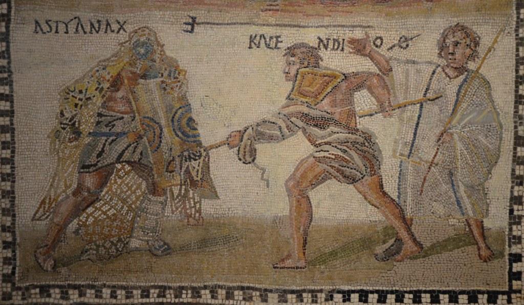Gladiator Ancient Rome Mosaic