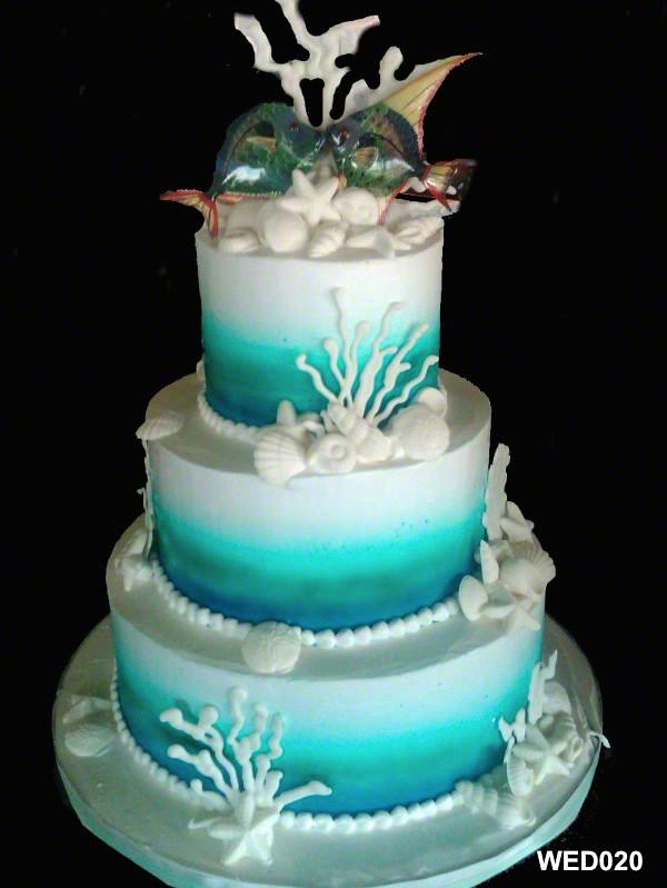 Wed020 3 Tier Round Ocean Wedding Cake 20 3 Brothers