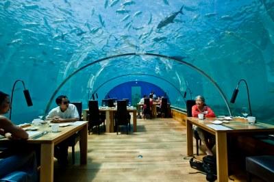 Ithaa Undersea Restaurant at Conrad Maldives Rangali Islan ...
