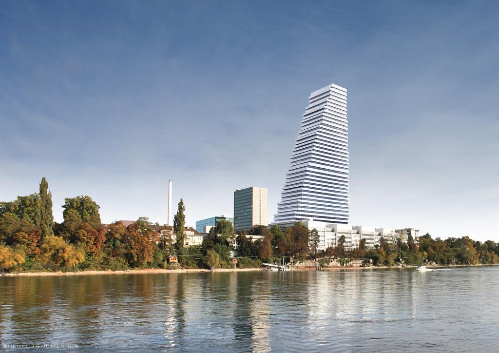 Roche Tower 1 By Herzog Amp De Meuron Roche Office Tower