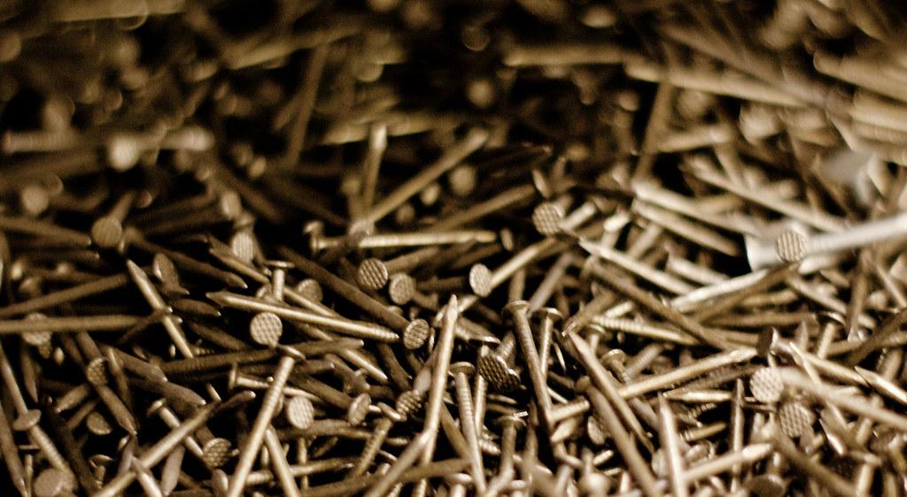 Bin Of 10 Penny Nails At The Hardware Store Nails Nails