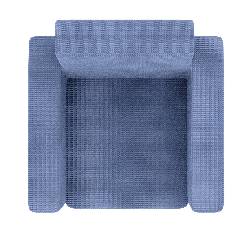 Blue And White Armchair
