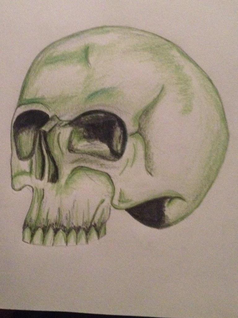 Pencil Drawing Skull Tattoo