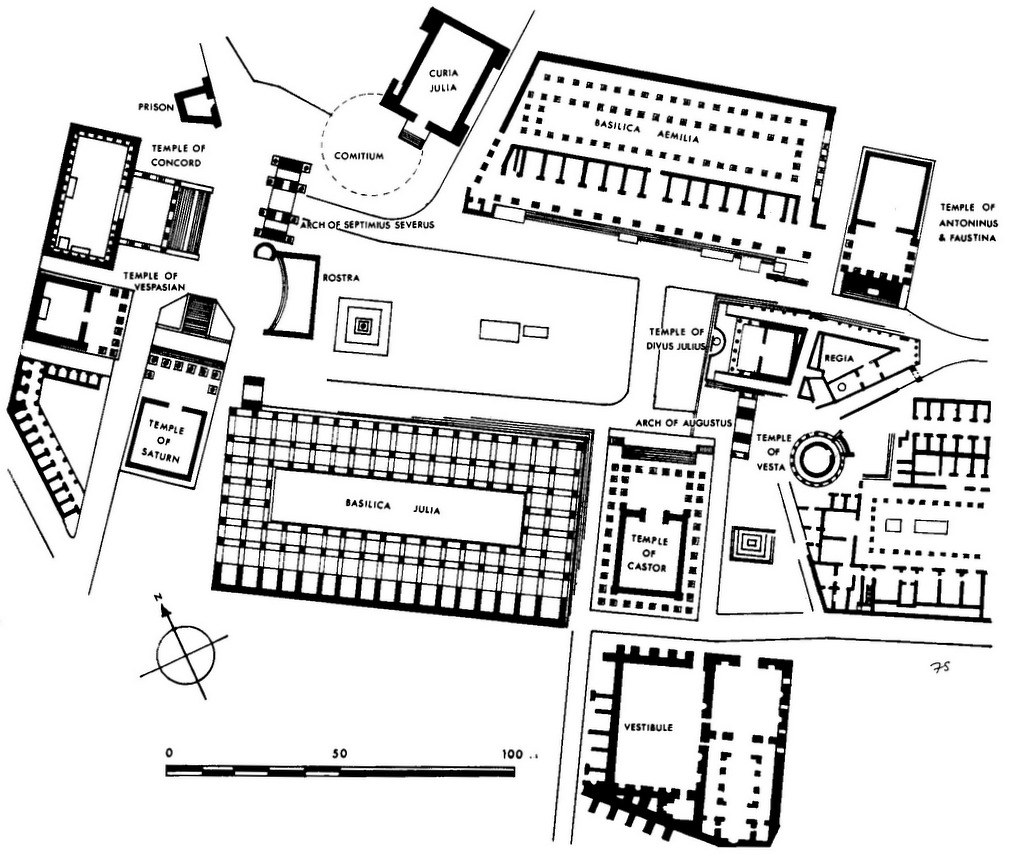 DOC114/14193 - Plan of the Forum Romanum, Rome | Fig. 27 ...
