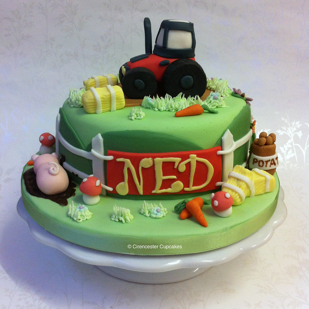 Birthday Cake Farmyard Ned Loves Tractors And Farms