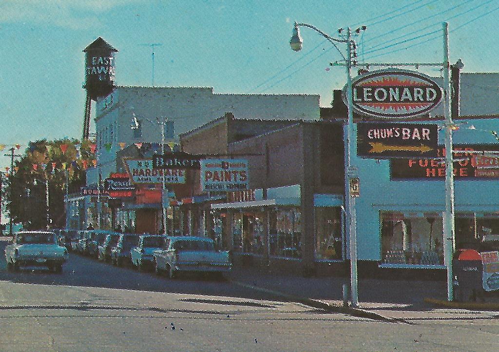 Ne East Tawas Mi 1960s Downtown Stores Businesses Leonard Flickr