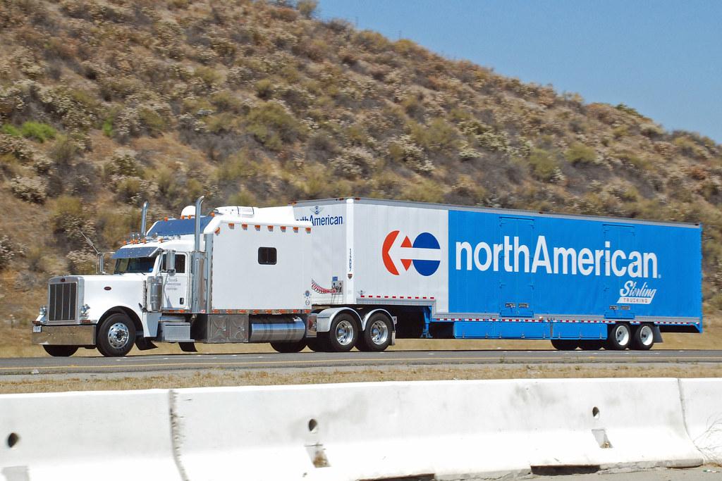 North American Van Lines | Peterbilt truck on Interstate ...