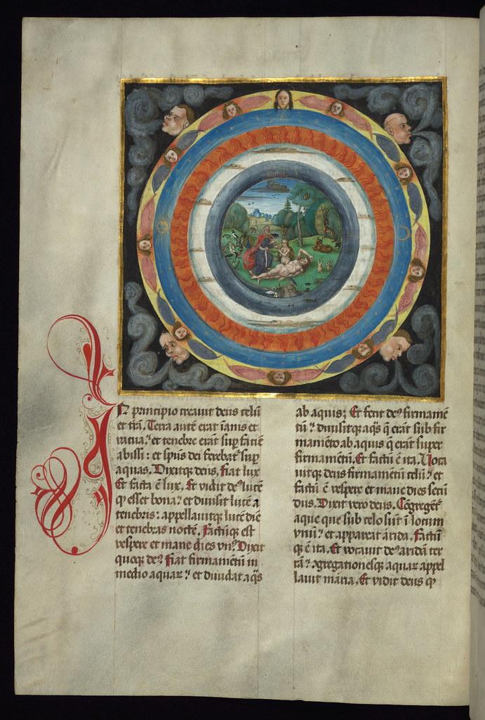 Illuminated Manuscript Bible Part Creation Of The Worl