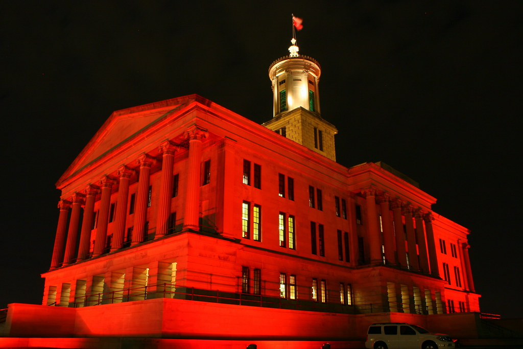 2011 Tennessee State Capitol Christmas At Night The