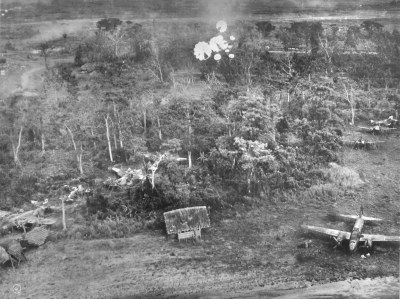 Parafrag bombing at Clark field, Jan. 1945 | Consolidated ...