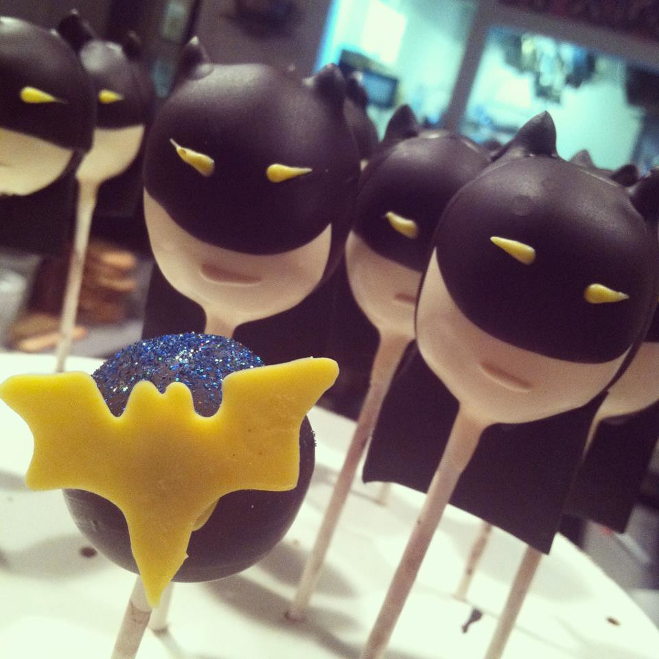 Batman Cake Pops Complete With Capes Ears And Even A