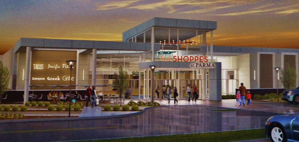 The Shoppes At Parma Rendering 2 Main Entrance Here