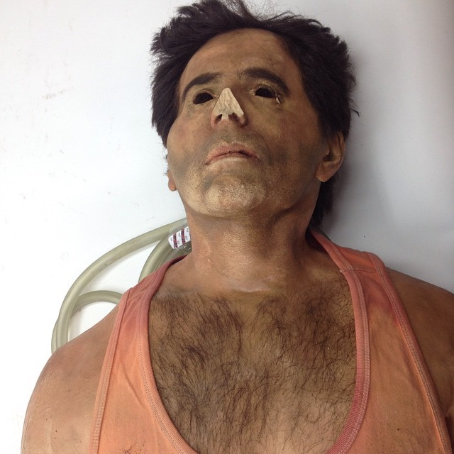 We got the Eli Roth upper torso prop from Piranha 3D in at      Flickr