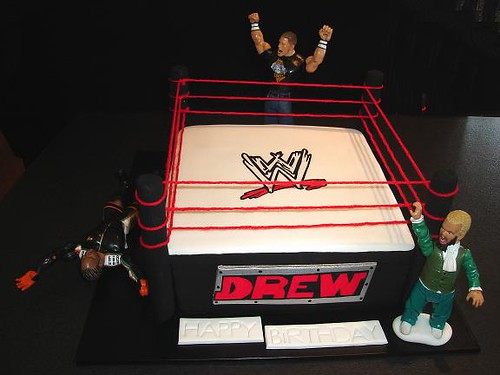 Wwe Birthday Cake This Vanilla Mud Cake Was Coloured