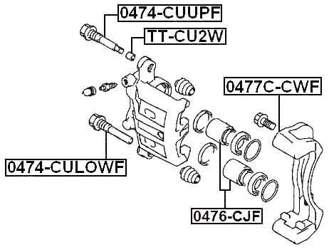 Febest 0477c cwf technical schematic