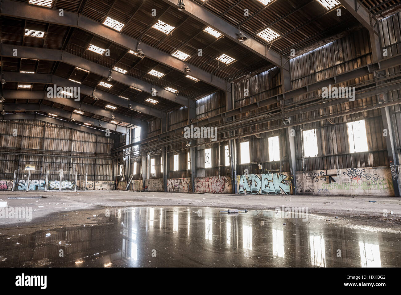 Large abandoned hangar in Nantes  France Stock Photo  136879794   Alamy Large abandoned hangar in Nantes  France