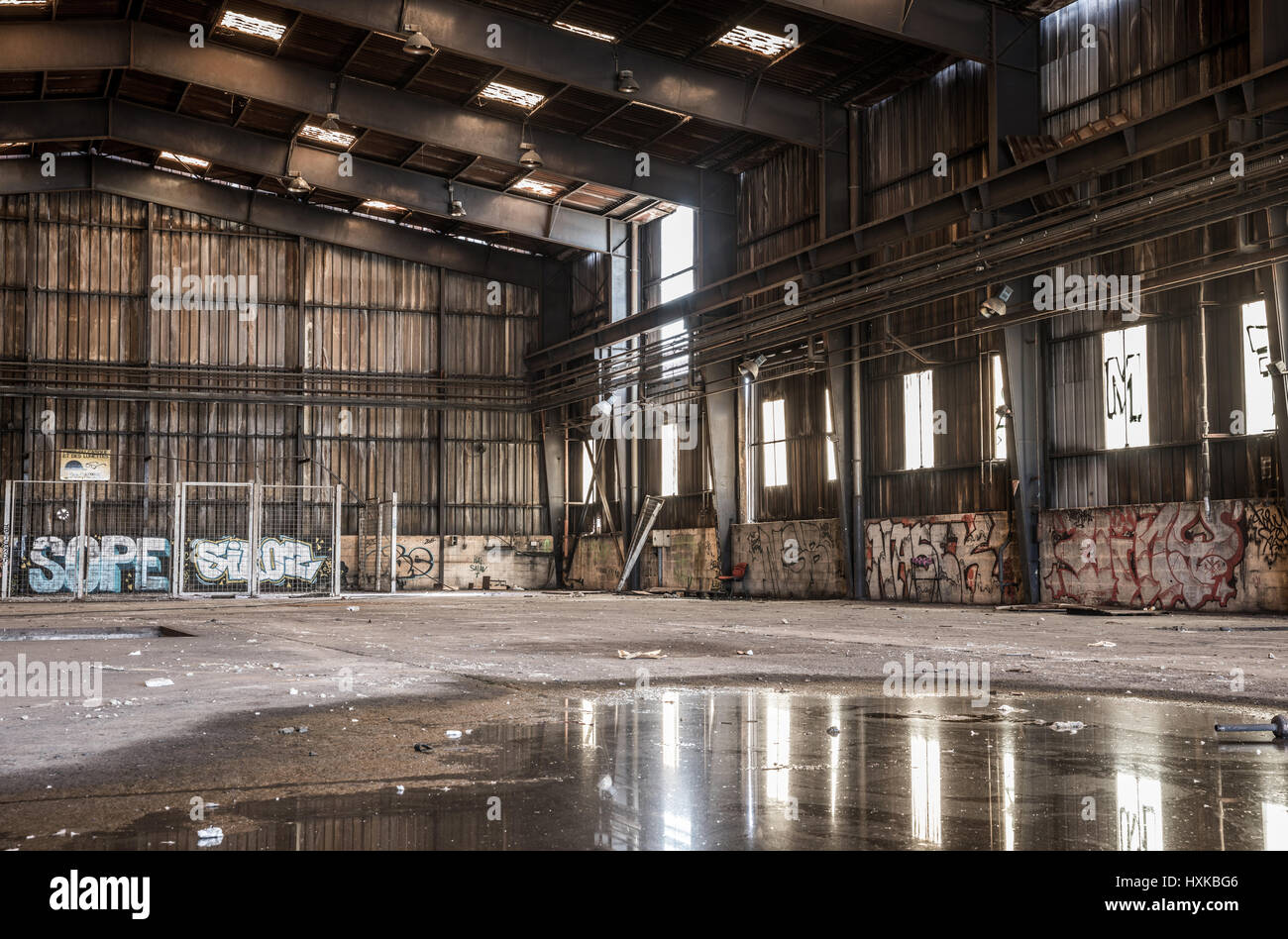 Large abandoned hangar in Nantes  France Stock Photo  136879798   Alamy Large abandoned hangar in Nantes  France