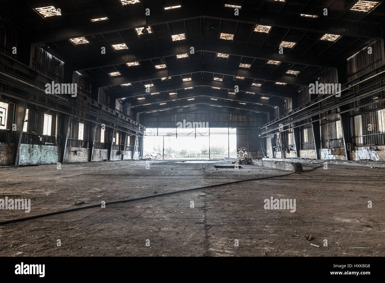 Large abandoned hangar in Nantes  France Stock Photo  136879800   Alamy Large abandoned hangar in Nantes  France
