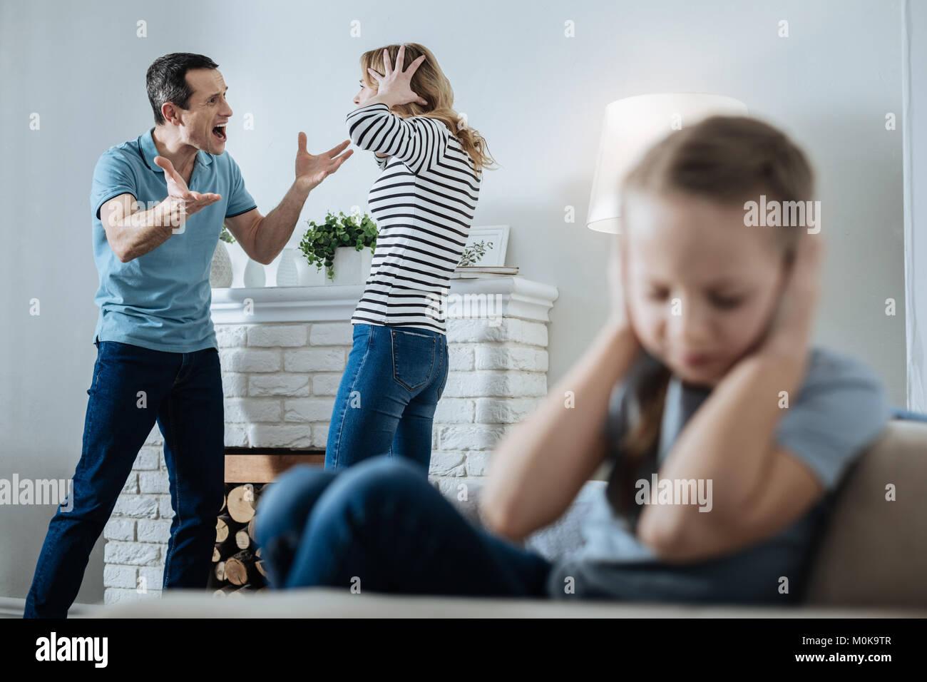 Mother Beating Daughter Belt