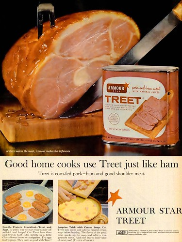 Armour Star Treet Pork And Ham Good Shoulder Meat Advertis