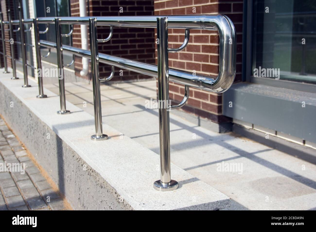 Stainless Steel Railings Chromed Metal Railings Shiny Chrome | Stainless Steel Outdoor Handrails | Safety | Stainless Pipe | Hand Rail | Tube | Square