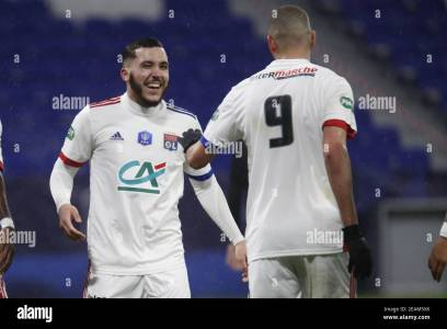 Rayan CHERKI Of Lyon And Islam SLIMANI Of Lyon During The French Cup, Round  Of 64 Football Match Between Olympique Lyonnais And / LM Stock Photo - Alamy