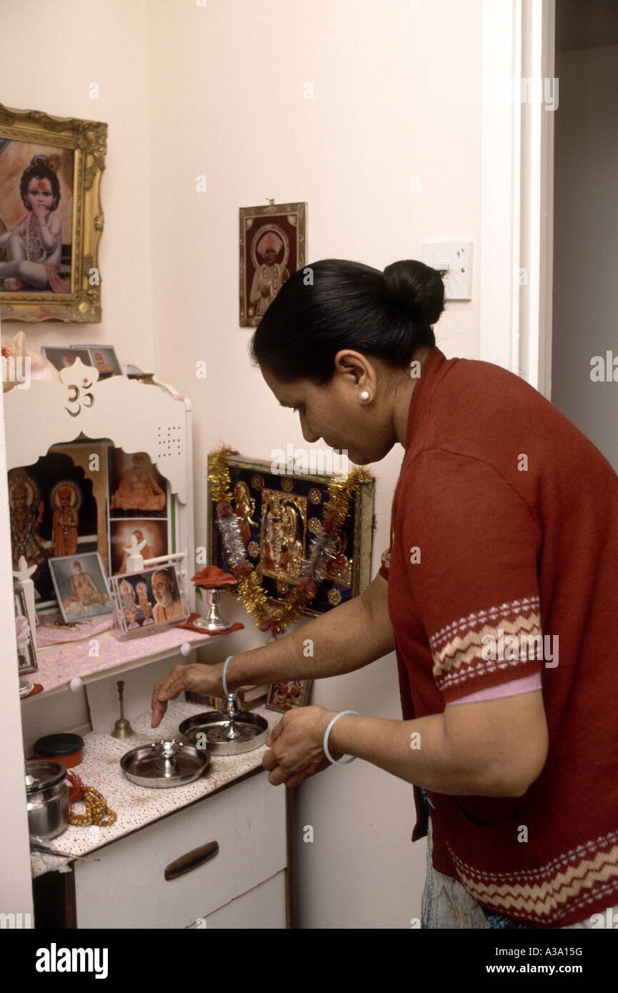 Best Kitchen Gallery: Hindu Woman Praying At An Altar In Her Home Stock Photo 10719243 of Hindu Altar At Home on rachelxblog.com