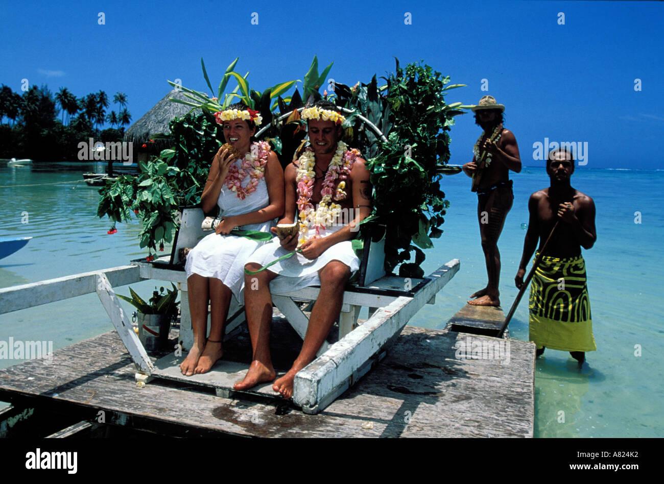 France French Polynesia Society Islands Moorea Polynesian Wedding Stock Photo 6835505 Alamy