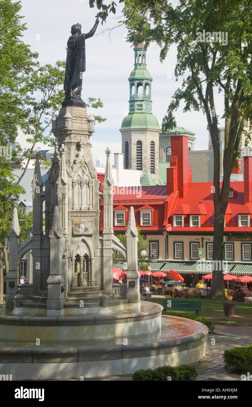 Canada Quebec Old Quebec City Place D Armes Public Park