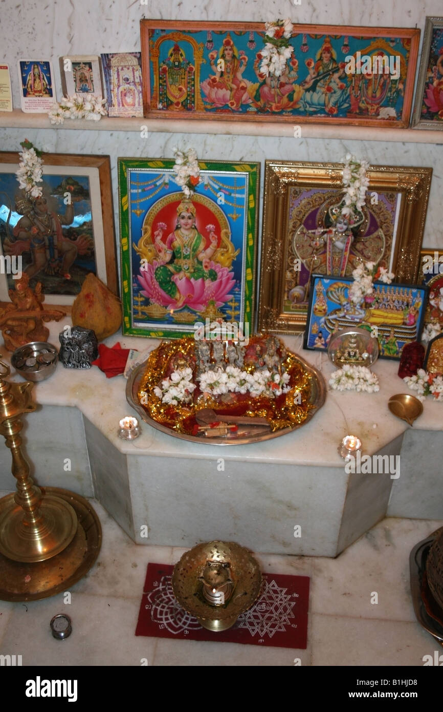 Best Kitchen Gallery: Hindu Shrine In A Home In India Stock Photo 18212692 Alamy of Hindu Altar At Home on rachelxblog.com