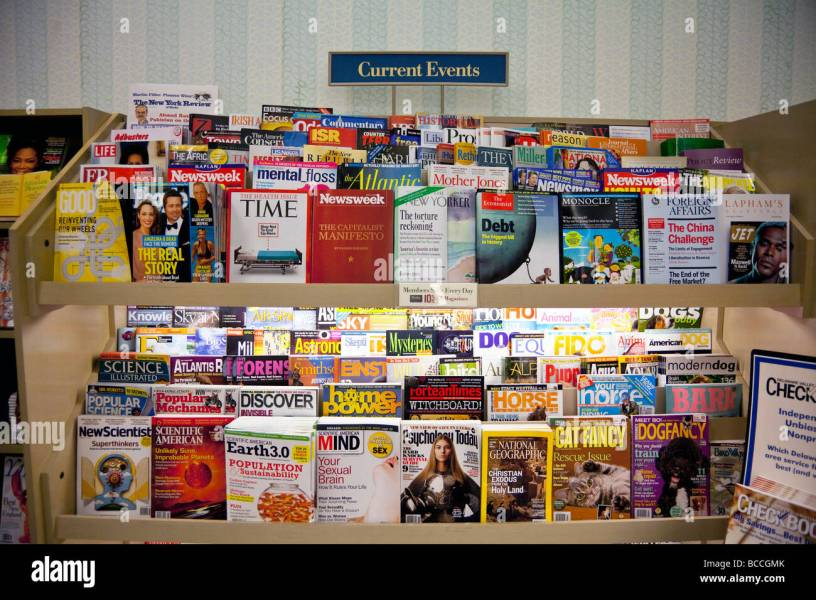 current events magazines on shelves  Barnes and Noble  USA Stock     current events magazines on shelves  Barnes and Noble  USA