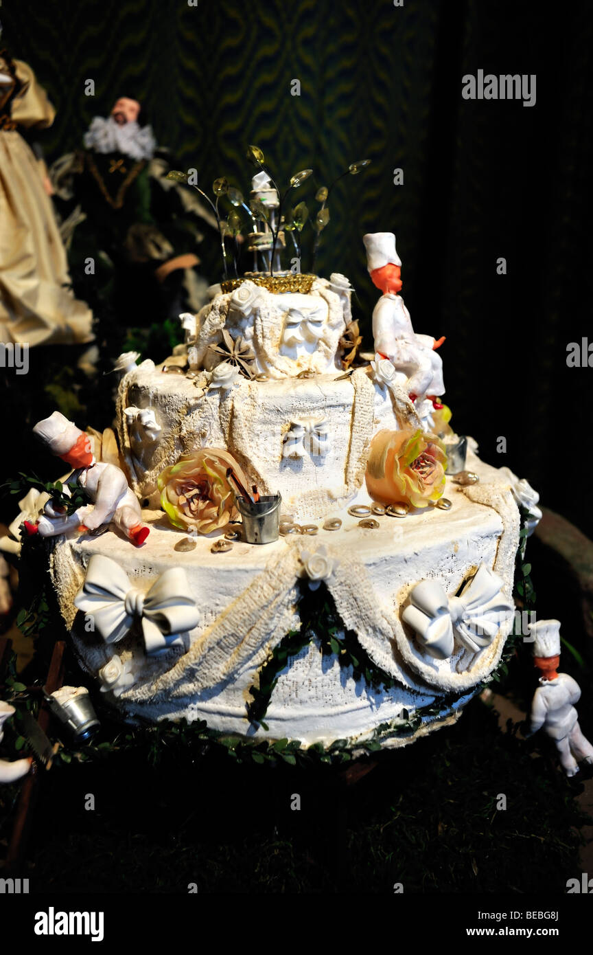 Paris  France    Wedding Cake  on Display in French Monument Stock     Paris  France    Wedding Cake  on Display in French Monument   Chateau de  Breteuil   Kitchen