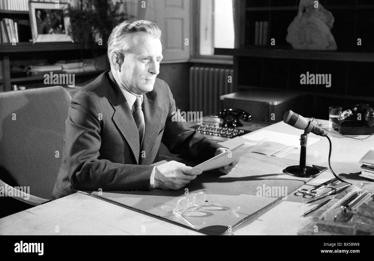 Antonin Novotny  New Year speech Stock Photo  33310516   Alamy Antonin Novotny  New Year speech