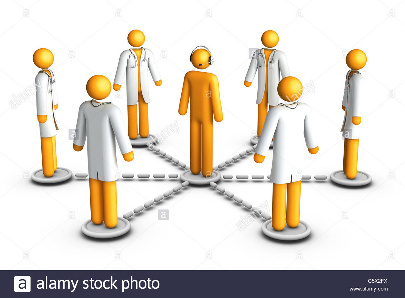 Health Care 3d Figure Stick
