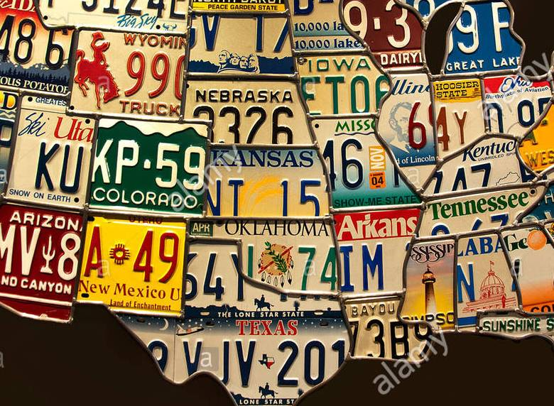HD Decor Images » Us licence plate map A4 sized us map wwwmeridianintlco Us Licence Plate Map