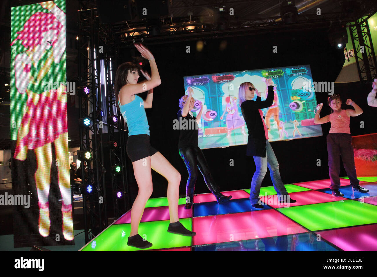 Interactive Games Stock Photos   Interactive Games Stock Images   Alamy INTERACTIVE DANCE VIDEO GAME PARIS GAMES WEEK 2011   Stock Image