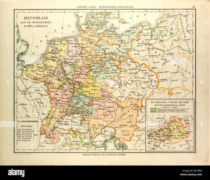 MAP OF GERMANY IN THE 16TH CENTURY Stock Photo  53393866   Alamy MAP OF GERMANY IN THE 16TH CENTURY