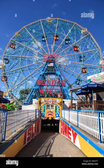 Denos Wonder Wheel, Amusement Park, Coney Island, Brooklyn ...