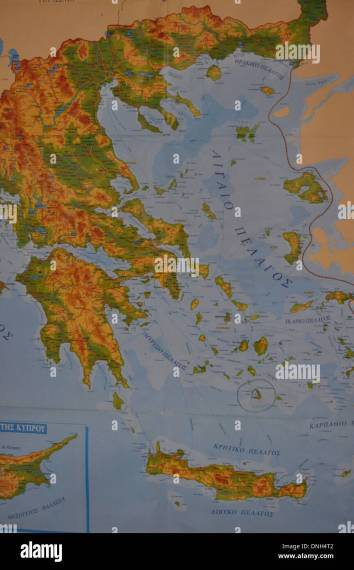 Greek Map Stock Photos   Greek Map Stock Images   Alamy Map of Greece and Greek islands   Stock Image