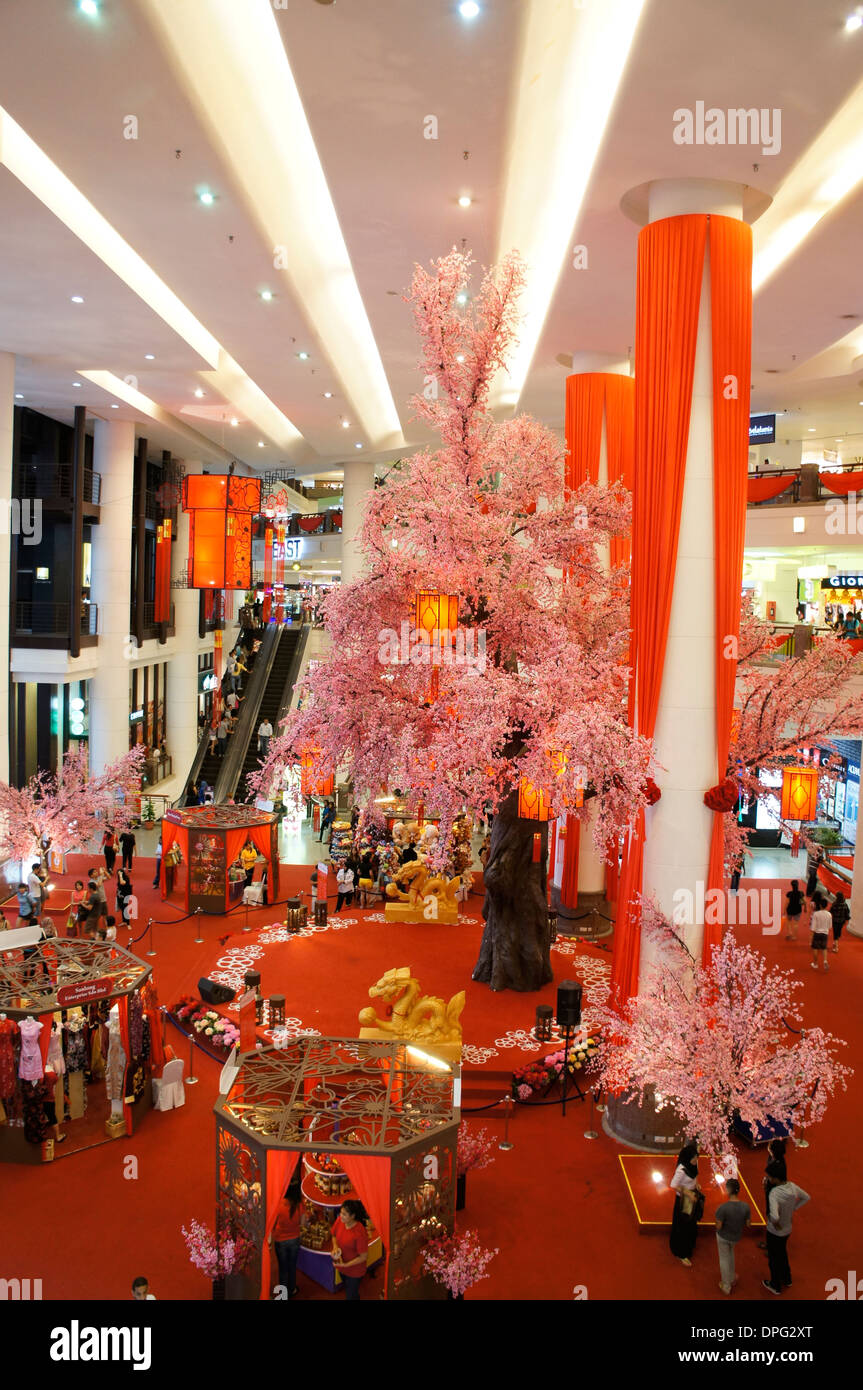 Chinese New Year Decoration Shopping Stock Photos   Chinese New Year     chinese new year decoration of shopping mall in Malaysia   Stock Image