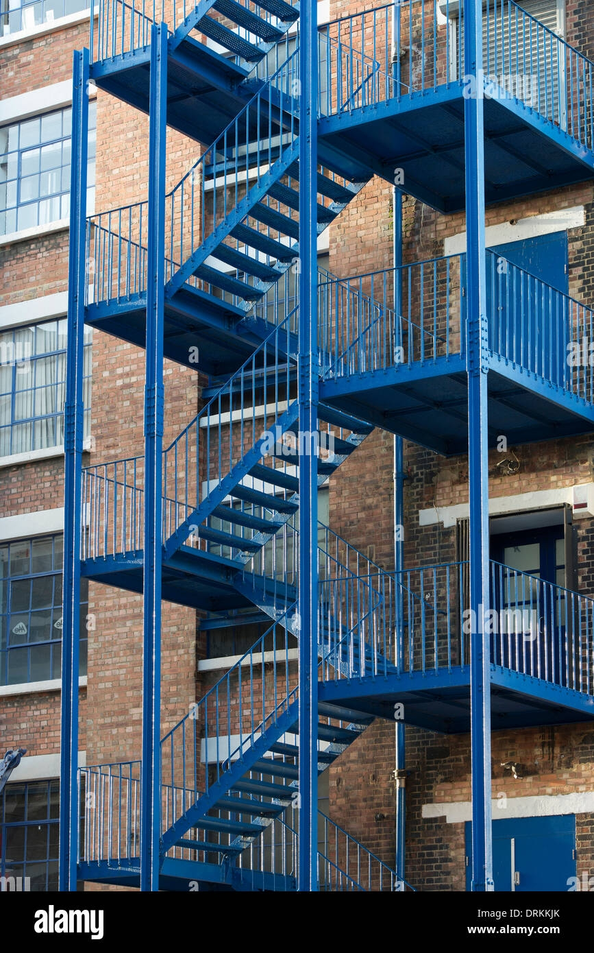External Fire Escape Staircase High Resolution Stock Photography   Steel Fire Escape Stairs   Architectural   Internal   Industrial   Emergency   Fire Exit