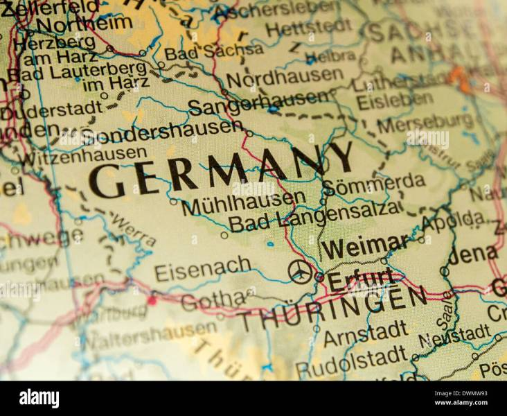 Germany On A Map Close Up Stock Photo  67456399   Alamy Germany On A Map Close Up