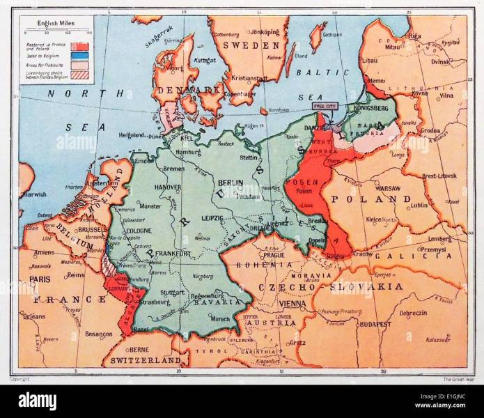 Germany Map Stock Photos   Germany Map Stock Images   Alamy Map of Prussia in Germany circa 1870   Stock Image