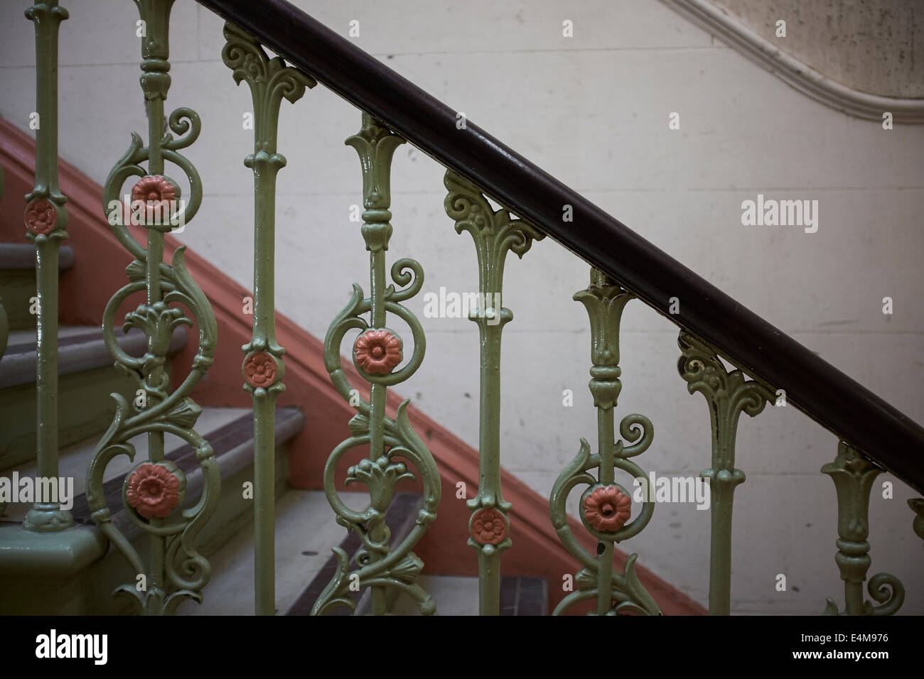 Close Up Detail Of Old Metal Decorative Stair Spindles Stock Photo | Decorative Handrails For Stairs | Main Entrance | Solid Wood | Different Style | Elegant | Steel Pipe