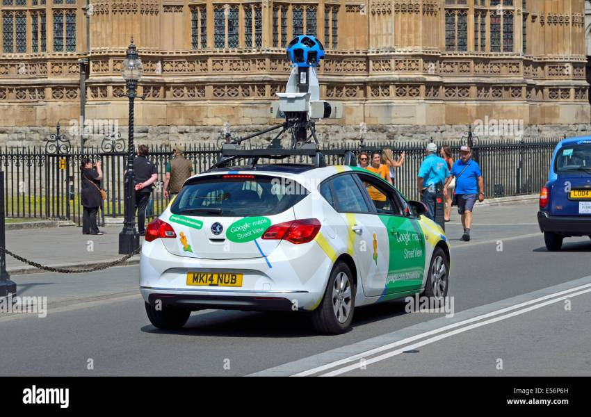 London  England  UK  Google Maps streetview car in Westminster Stock     London  England  UK  Google Maps streetview car in Westminster  passing  Parliament